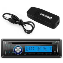 Kit CD Player Automotivo Lenoxx AR613 1 Din USB MP3 SD AUX RCA + Adaptador Bluetooth Música Receptor - Prime