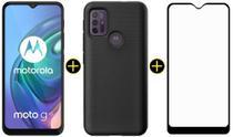 Kit Celular Motorola Moto G10 Cinza 64GB + Capa Protetora + Película Protetora -