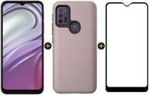 Kit Celular Motorola Moto G20 Pink 64GB + Capa Triangle + Pelicula Y-Protection -
