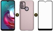 Kit Celular Motorola Moto G30 Metal Suave 128GB + Capa Protetora + Pelicula -