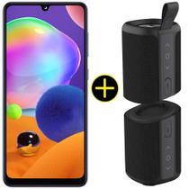 Kit Celular Samsung Galaxy A31 Azul 128GB + Caixa Bluetooth 20W Y-Move Preto -
