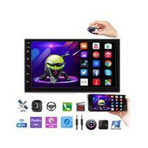 Kit Central Multimidia Android 8 Onix Spin Cobalt Prisma 13 A 19 Gps BT  Prata + Chicote & Câmera - Premium