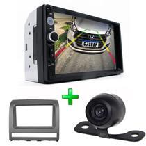 Kit Central Multimidia + Camera de Ré + Moldura palio strada siena idea 05 até 12 Mp5 Player C19a - First Option