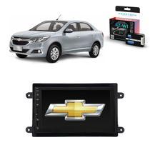 Kit Central Multimídia COBALT - Mp8 + Moldura + Câmera + Tv + Interface de volante - Tay Tech