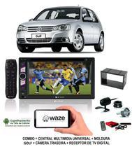 Kit Central Multimidia Dvd Golf + Moldura + Camera + Tv - E-Tech