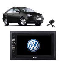 Kit Central Multimidia Dvd Polo Sedan + Moldura + Camera - e-Tech