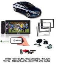 Kit Central Multimidia Dvd Vectra + Moldura + Camera + Tv - E-Tech