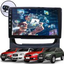"""Kit Central Multimídia Fiat Pálio, Pálio Weekend, Strada, Siena 2013 A 2019 GPS Tela 9"""" HD Bluetooth Câmera de Ré Espelha Android e iPhone - Genko"""