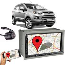 Kit Central Multimídia Fit + Moldura 2 Din Ecosport + Câmera Ré - Central envolve fit
