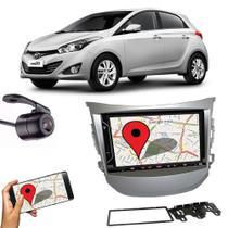 Kit Central Multimídia Fit + Moldura 2 Din Hb20 Hyundai + Câmera Ré - E-Tech