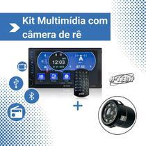 "Kit Central Multimídia H-Tech HT-3020, tela 7""+ Câmara de Ré -"