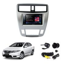 Kit Central Multimidia Honda City Ar Dig. + Camera + Moldura - Multi marcas
