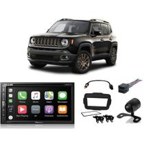 Kit Central Multimídia Jeep Renegade PCD 2018 2019 2020 AVH-Z5280TV Pioneer + Câmera + Moldura e Chicotes