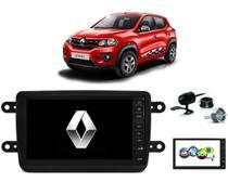 Kit Central Multimídia KWID - Mp8 + Moldura + Câmera + Tv + Interface de volante - Tay Tech