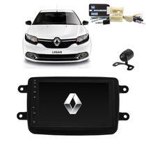 Kit Central Multimídia LOGAN - Mp8 + Moldura + Câmera + Tv + Interface de volante P&P - Tay Tech