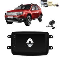 Kit Central Multimídia Mp5 Duster + Moldura + Câmera + Tv + Interface de volante plug&play - Tay Tech
