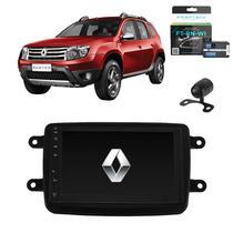Kit Central Multimídia Mp5 Duster + Moldura + Câmera + Tv + Interface de volante - Tay Tech