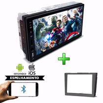 Kit Central Multimidia Mp5 Player + Moldura Vectra 06 até 12 Espelhamento Chamadas Bluetooth Usb Sd - First Option