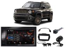 Kit Central Multimídia Positron SP8530BT C/ Câm.de Ré + Moldura e Chicotes Jeep Renegade PCD 2018...