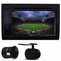 "Kit Central Multimídia Pósitron SP8730 6.2"" Espelhamento Bluetooth TV USB CD DVD MP3 + Cam Ré 2 em 1 - Kit som e vídeo"