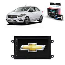 Kit Central Multimídia PRISMA - Mp8 + Moldura + Câmera + Tv + Interface de volante - Tay Tech