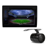 Kit Central Multimidia PST SP8730DTV Positron 2Din TV BT USB Mirror Connect DVD CD + Câmera de Ré -
