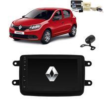 Kit Central Multimídia SANDERO - Mp8 + Moldura + Câmera + Tv + Interface de volante P&P - Tay Tech