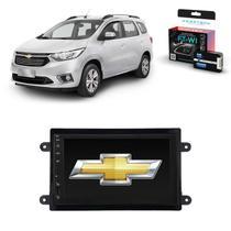 Kit Central Multimídia SPIN - Mp8 + Moldura + Câmera + Tv + Interface de volante - Tay Tech