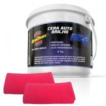 KIT Cera de Carnaúba Cristalizadora Auto 2Kg - BraClean -