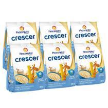Kit Cereal Infantil Piracanjuba Crescer Arroz Aveia 6x180g -