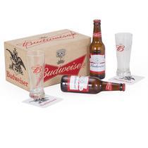 Kit Cerveja + 2 Copos + 2 porta copos  + 1 baú - Shop quality