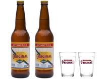 Kit Cerveja Antartica Original 600ml 2 Unidades - com 2 Copos