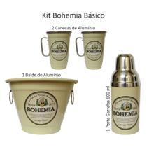 Kit Cerveja - Bohemia Balde De Gelo Canecas E Porta Garrafas - Bege - DIA DOS PAIS - Fagundes