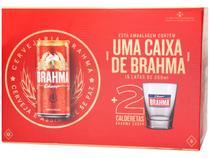 Kit Cerveja Brahma Chopp Pilsen 269ml Cada - 15 Unidades com 2 Copos