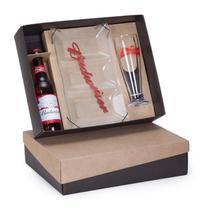 Kit Cerveja Budweiser 343ml + 1 tulipa e 1 petisqueira - Shop quality