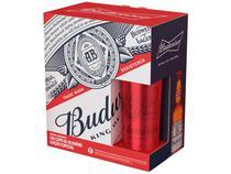 Kit Cerveja Budweiser American Standard Lager - 4 Unidades 330ml com 1 Copo