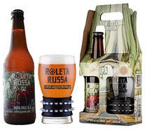 Kit Cerveja Roleta Russa Easy IPA Long-neck 355ml e Copo Bracelete 300 ml -