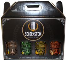 Kit Cerveja Schornstein Ipa, Witbier, Bock e Pilsen garrafas 500 ml -