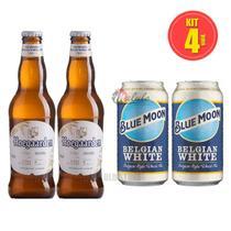 Kit Cervejas Blue Moon e Hoegaarden - Malulo Store