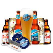 Kit Cervejas Colecionadores com 01 copo + 02 abridores + porta copos - Kits