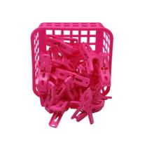 Kit Cesta c 24 prendedores - Rosa Pink - Lesorelli