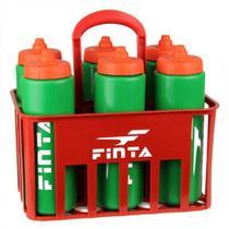 Kit Cesta C/6 Squeeze 1L Válvula Automática + Suporte Finta -