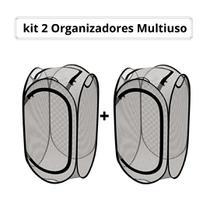 Kit Cesto de Roupa Suja Multiuso Não Ocupa Espaço Com 2 un - Euro