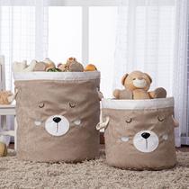 Kit Cesto Organizador de Brinquedos e Roupas Sujas Dobrável Infantil - Mais Que Baby