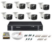 Kit Cftv 08 Cameras Segurança  Hd Dvr Intelbras 1108 S/ HD -