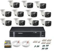 Kit Cftv 11 Cameras Segurança  Hd Dvr Intelbras 1116 S/ HD -