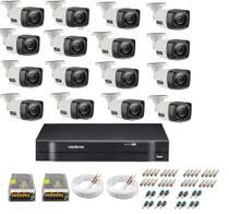 Kit Cftv 16 Cameras Segurança  Hd Dvr Intelbras 1116 S/ HD -