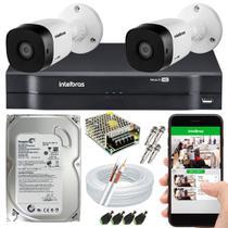 Kit CFTV 2 Câmeras Intelbras com HD 500GB -