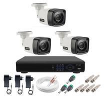 Kit Cftv 3 Câmeras Infravermelho Segurança 1mp 20m Dvr Full Hd 4 Ch S/ Hd Promo - Citrox