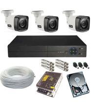 Kit Cftv 3 Câmeras Segurança Infra 25m 720p Dvr 4ch Multi Hd - Citrox